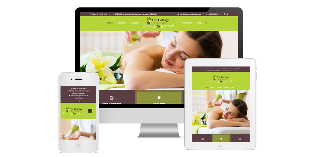 At Littlebigbox we designed and developed an online course booking website for Beauty Training Centre | Beauty Websites Southampton