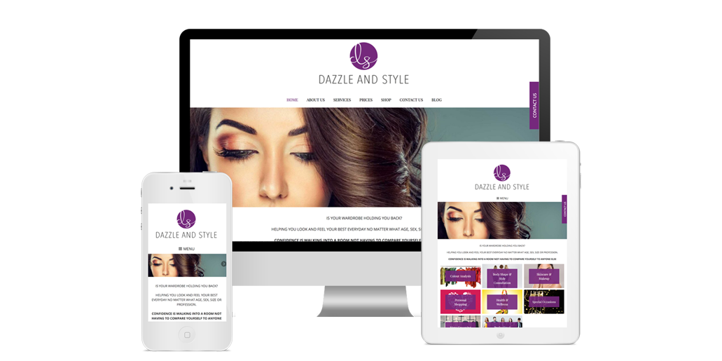 Dazzle and Style - Website Design Southampton, Hampshire