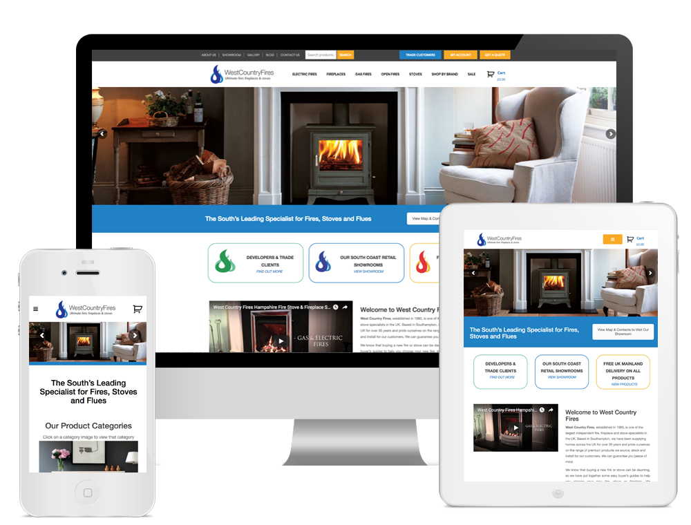 West Country Fires Totton - eCommerce Website Design Southampton